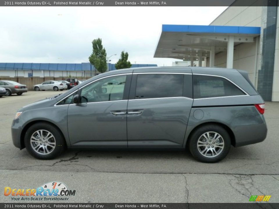 2011 Honda Odyssey Ex L Polished Metal Metallic Gray Photo 2 Dealerrevs Com