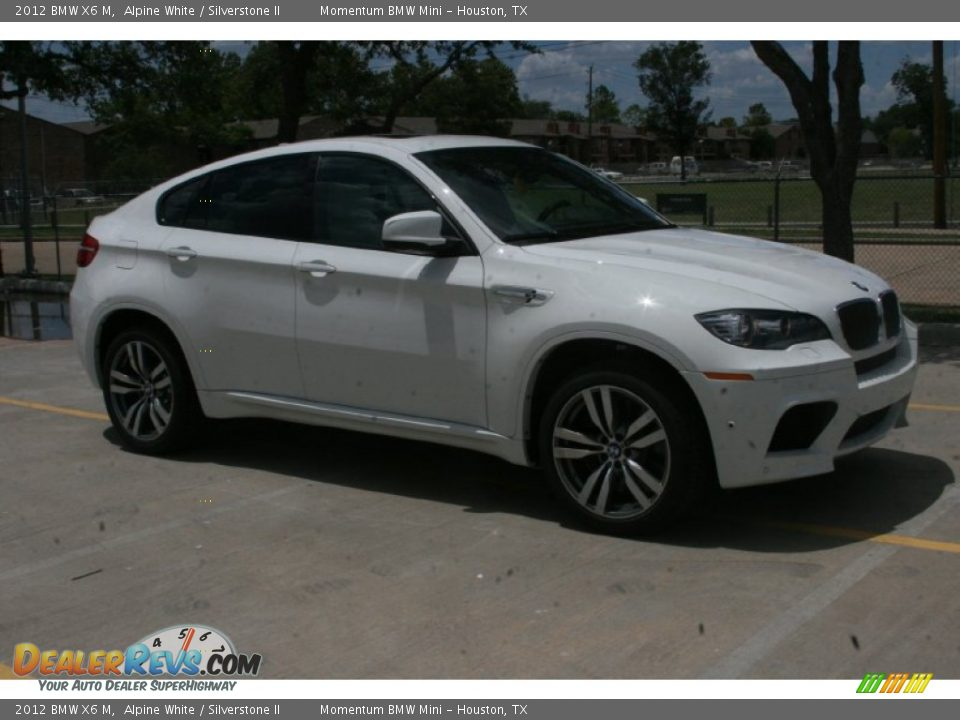 2012 Bmw X6 M Alpine White Silverstone Ii Photo 4
