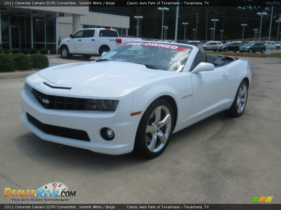 2011 Chevrolet Camaro Ss Rs Convertible Summit White