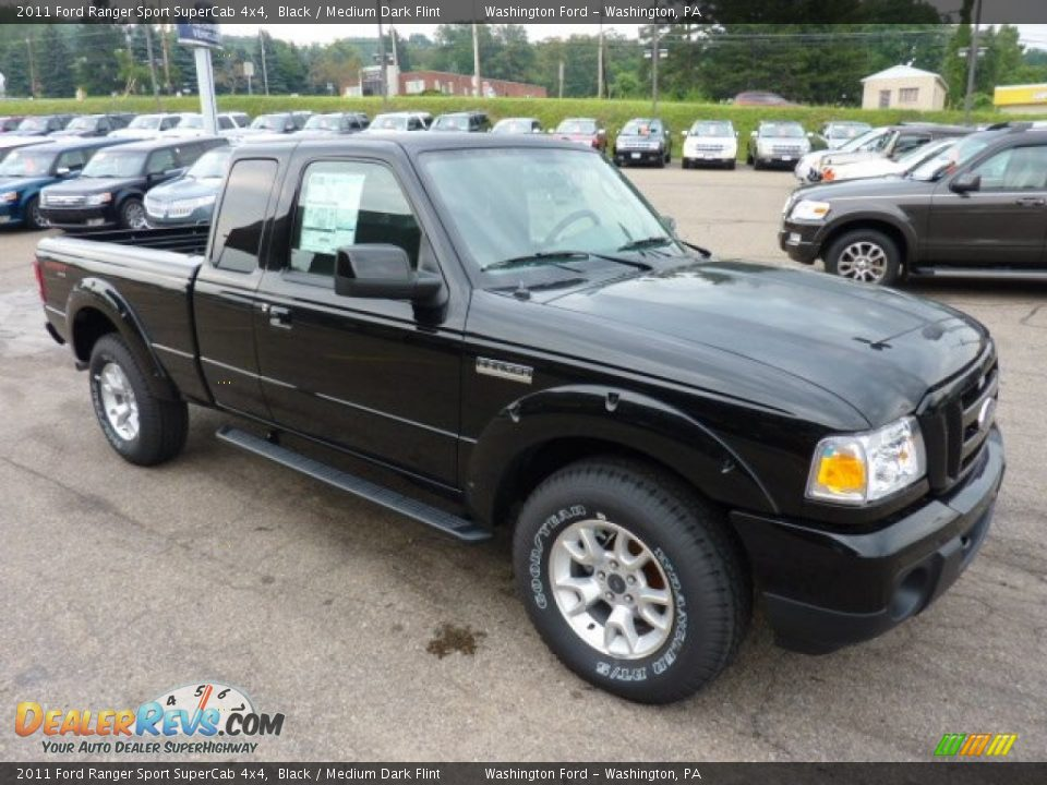 2011 ford ranger sport supercab 4x4 black medium dark flint photo 6. Black Bedroom Furniture Sets. Home Design Ideas