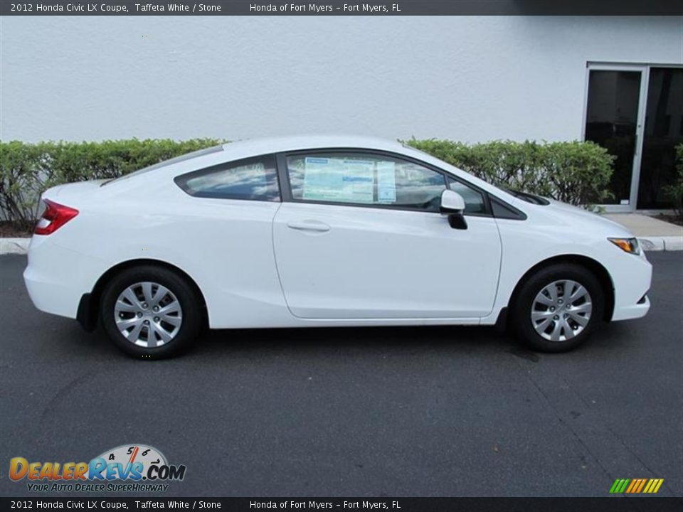 Taffeta white 2012 honda civic lx coupe photo 2 for 2012 honda civic white