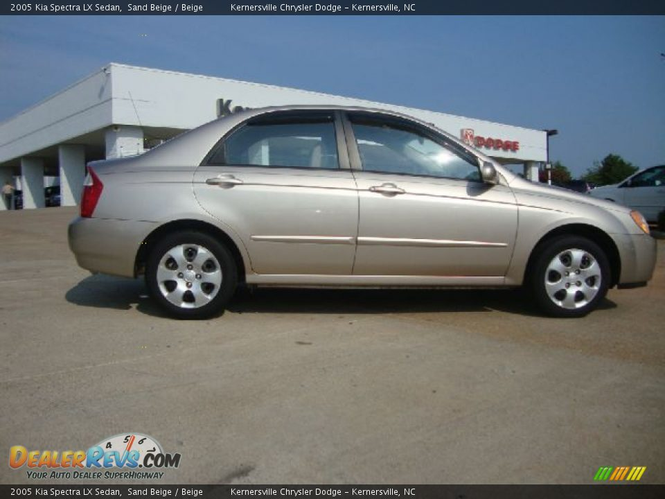 2005 Kia Spectra Lx Sedan Sand Beige Beige Photo 2