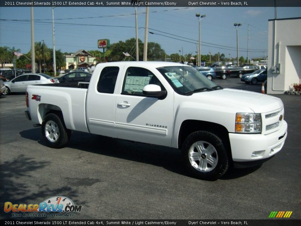 2011 chevrolet silverado 1500 lt extended cab 4x4 summit white light cashmere ebony photo 9. Black Bedroom Furniture Sets. Home Design Ideas