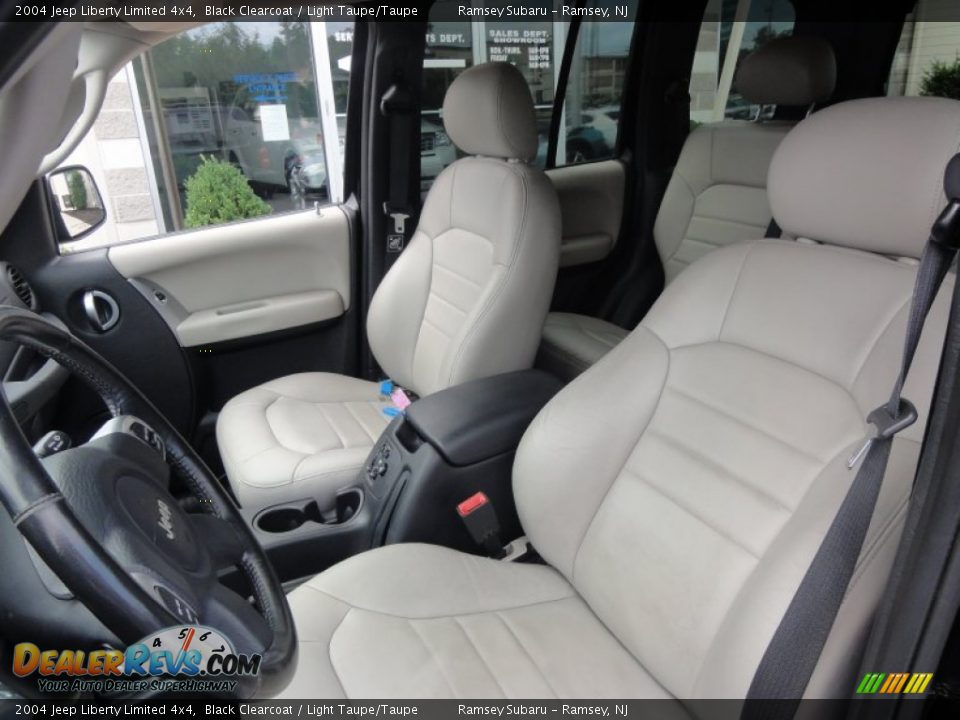 Light Taupe Taupe Interior 2004 Jeep Liberty Limited 4x4 Photo 15