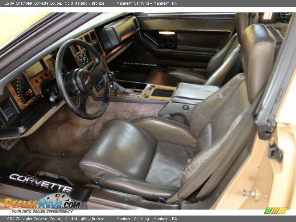 Bronze Interior 1984 Chevrolet Corvette Coupe Photo 10