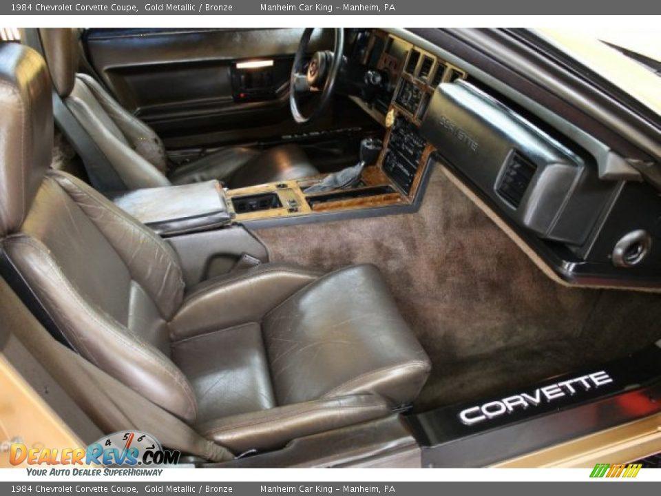 Bronze Interior 1984 Chevrolet Corvette Coupe Photo 11