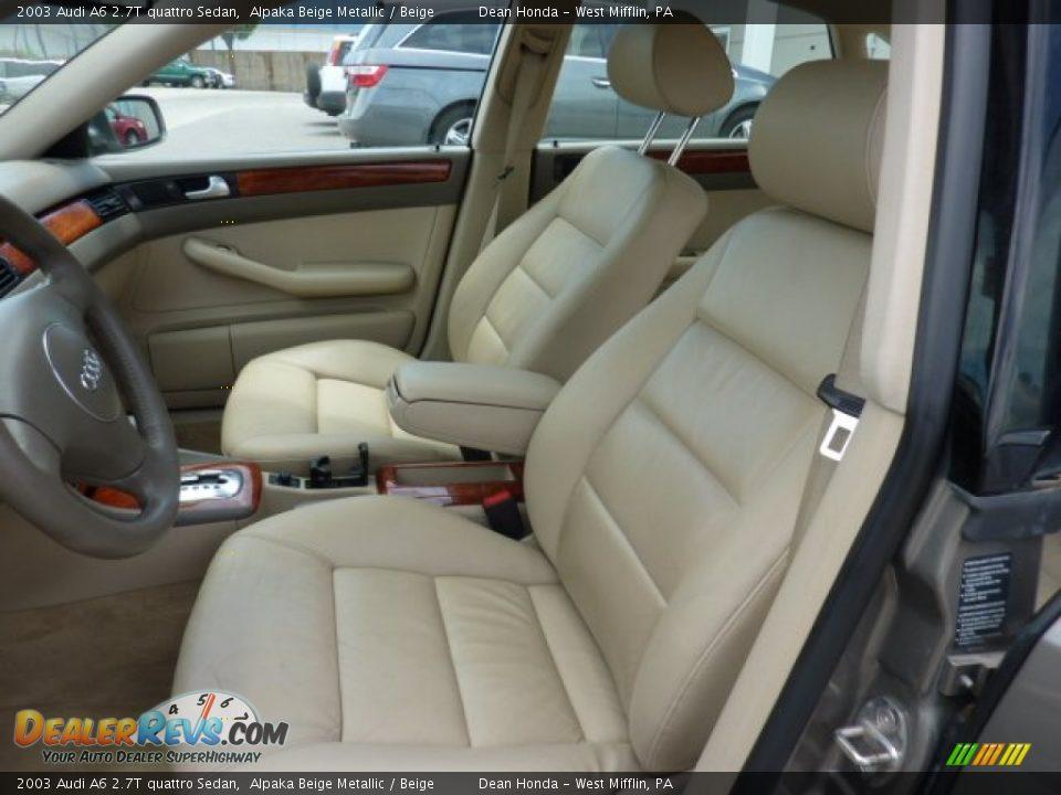 beige interior 2003 audi a6 2 7t quattro sedan photo 10. Black Bedroom Furniture Sets. Home Design Ideas