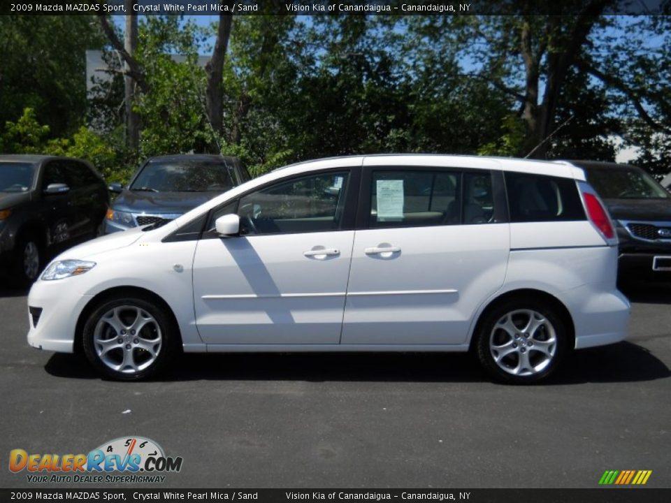 2009 Mazda Mazda5 Sport Crystal White Pearl Mica Sand Photo 13 Dealerrevs Com