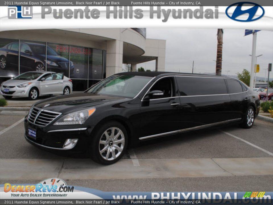 2011 Hyundai Equus Signature Limousine Black Noir Pearl Jet Black Photo 1 Dealerrevs Com