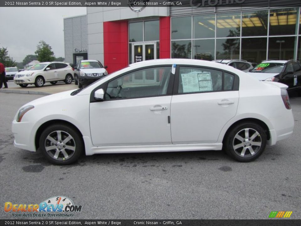 2012 nissan sentra 2 0 sr special edition aspen white beige photo 2. Black Bedroom Furniture Sets. Home Design Ideas