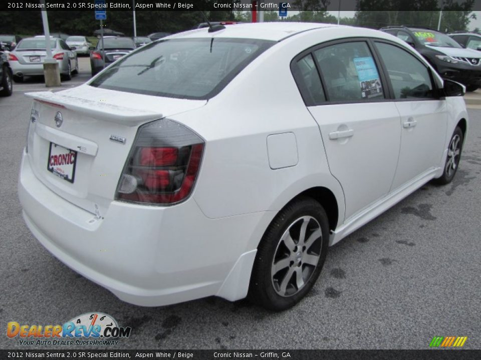 2012 nissan sentra 2 0 sr special edition aspen white beige photo 5. Black Bedroom Furniture Sets. Home Design Ideas