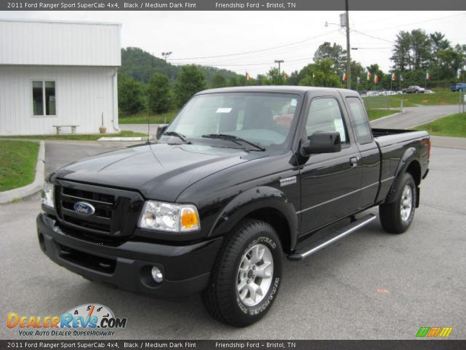 2011 ford ranger sport supercab 4x4 black medium dark flint photo 2. Black Bedroom Furniture Sets. Home Design Ideas