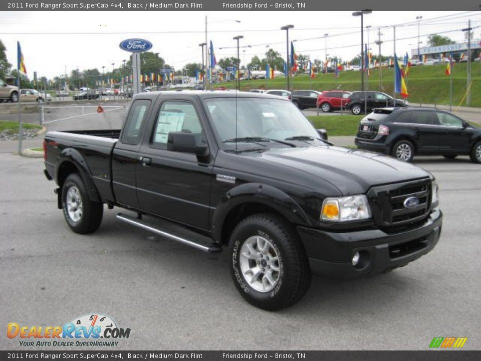 2011 ford ranger sport supercab 4x4 black medium dark flint photo 4. Black Bedroom Furniture Sets. Home Design Ideas