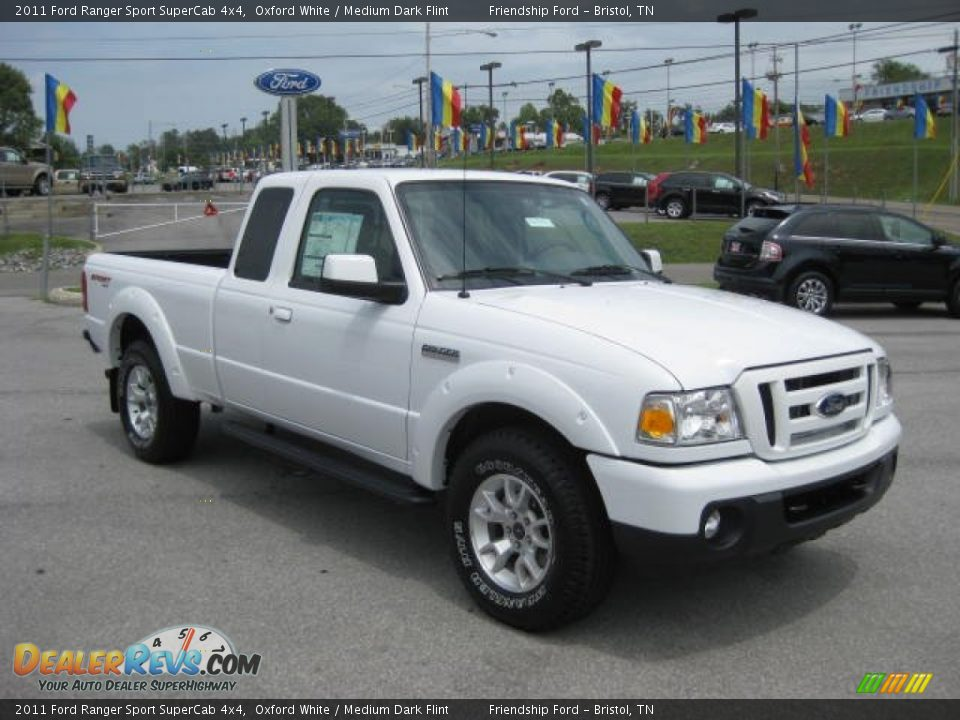 2011 ford ranger sport supercab 4x4 oxford white medium dark flint photo 4. Black Bedroom Furniture Sets. Home Design Ideas