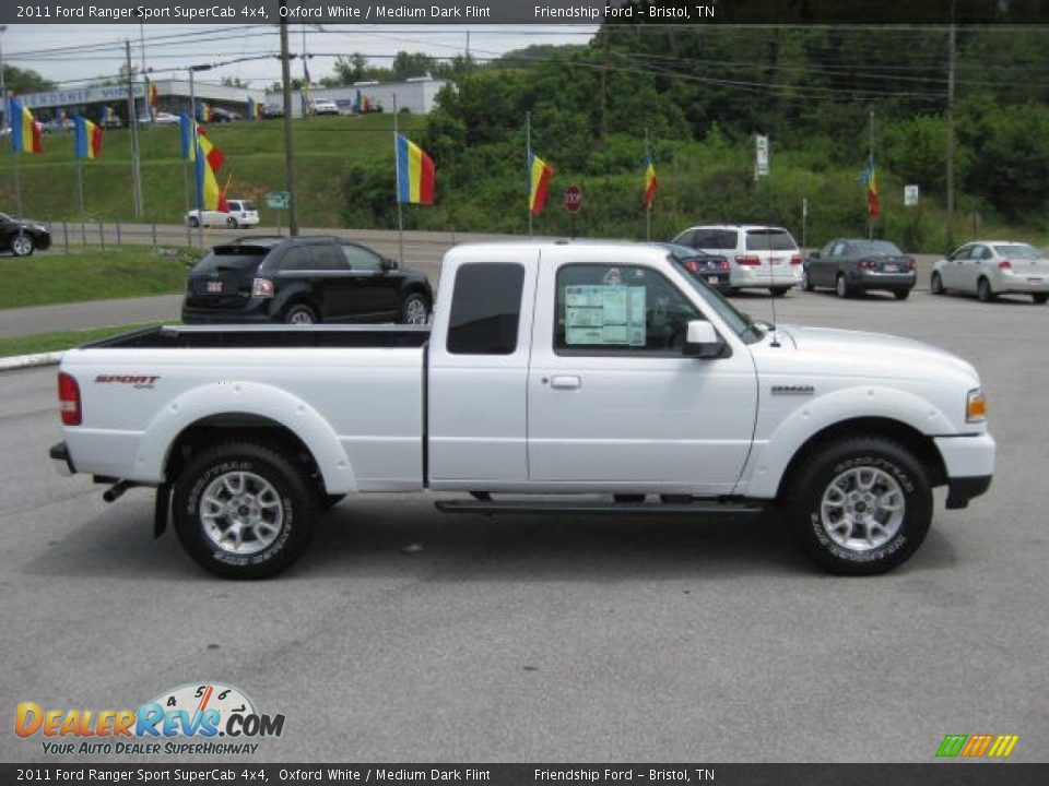 2011 ford ranger sport supercab 4x4 oxford white medium dark flint photo 5. Black Bedroom Furniture Sets. Home Design Ideas
