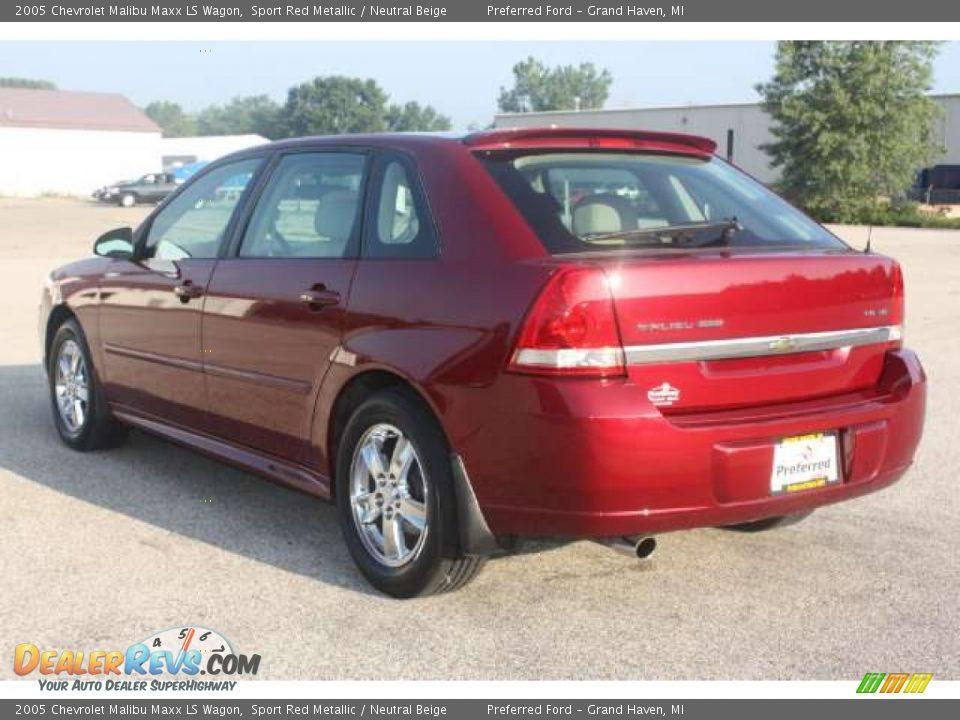 2005 Chevrolet Malibu Maxx Ls Wagon Sport Red Metallic