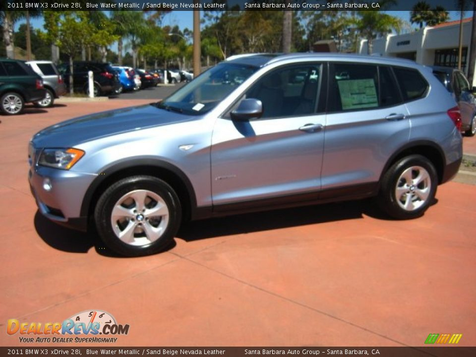 2011 Bmw X3 Xdrive 28i Blue Water Metallic Sand Beige