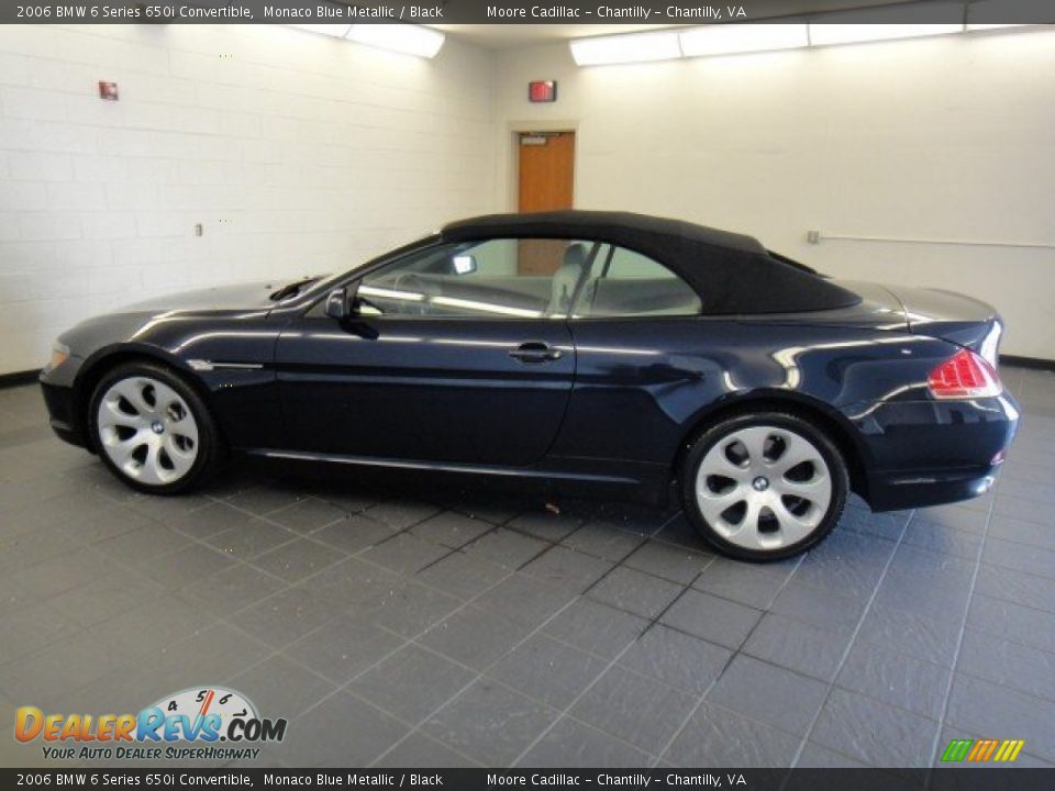 2006 bmw 6 series 650i convertible monaco blue metallic black photo 3. Black Bedroom Furniture Sets. Home Design Ideas
