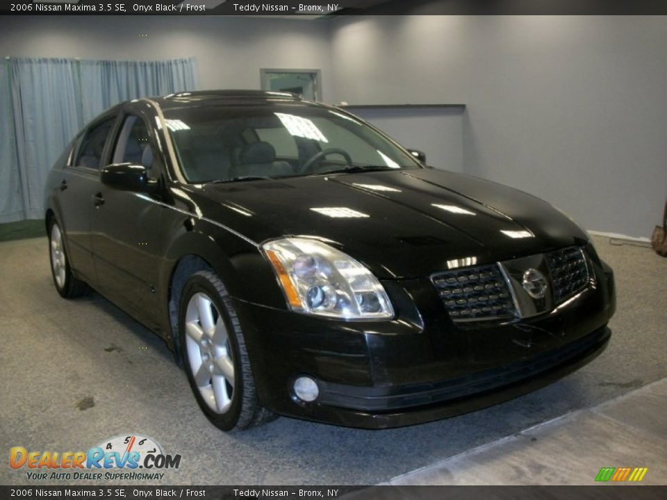 2006 nissan maxima 3 5 se onyx black frost photo 1. Black Bedroom Furniture Sets. Home Design Ideas