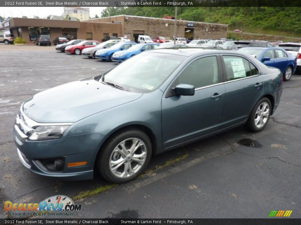 2012 ford fusion se steel blue metallic charcoal black photo 5 dealerrevs com