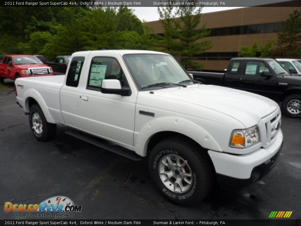 2011 ford ranger sport supercab 4x4 oxford white medium dark flint photo 1. Black Bedroom Furniture Sets. Home Design Ideas