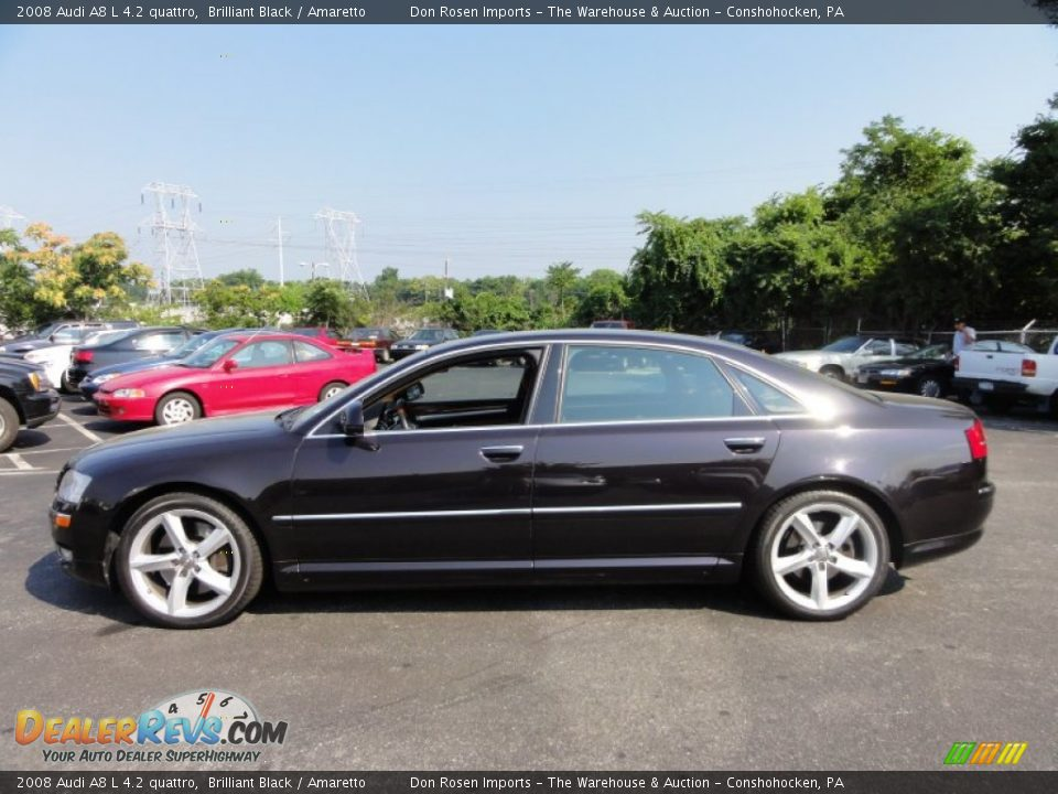 2008 Audi A8 L 4 2 Quattro Brilliant Black Amaretto
