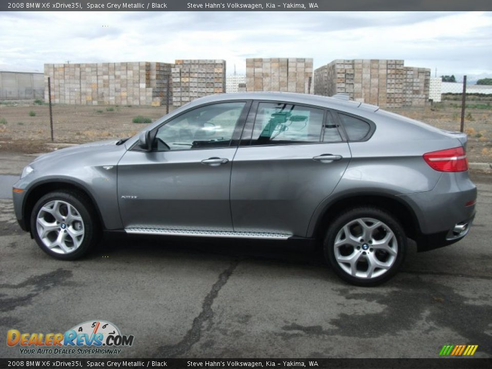 Space Grey Metallic 2008 Bmw X6 Xdrive35i Photo 3