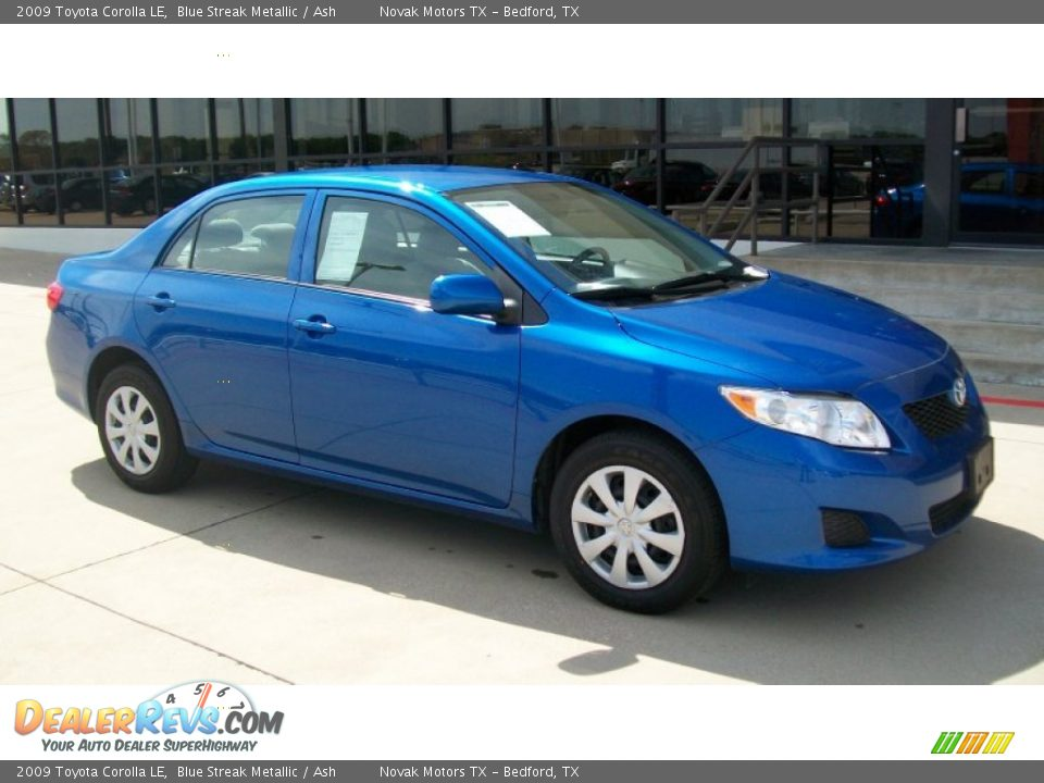2009 toyota corolla le blue streak metallic ash photo 1