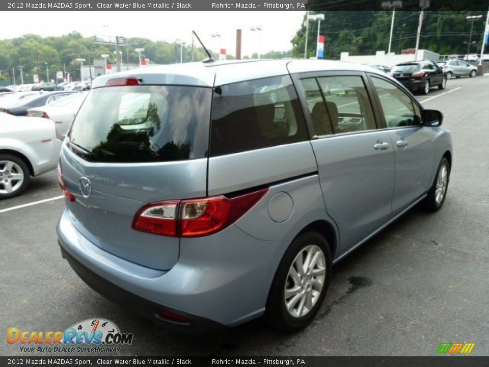 clear water blue metallic 2012 mazda mazda5 sport photo 4. Black Bedroom Furniture Sets. Home Design Ideas