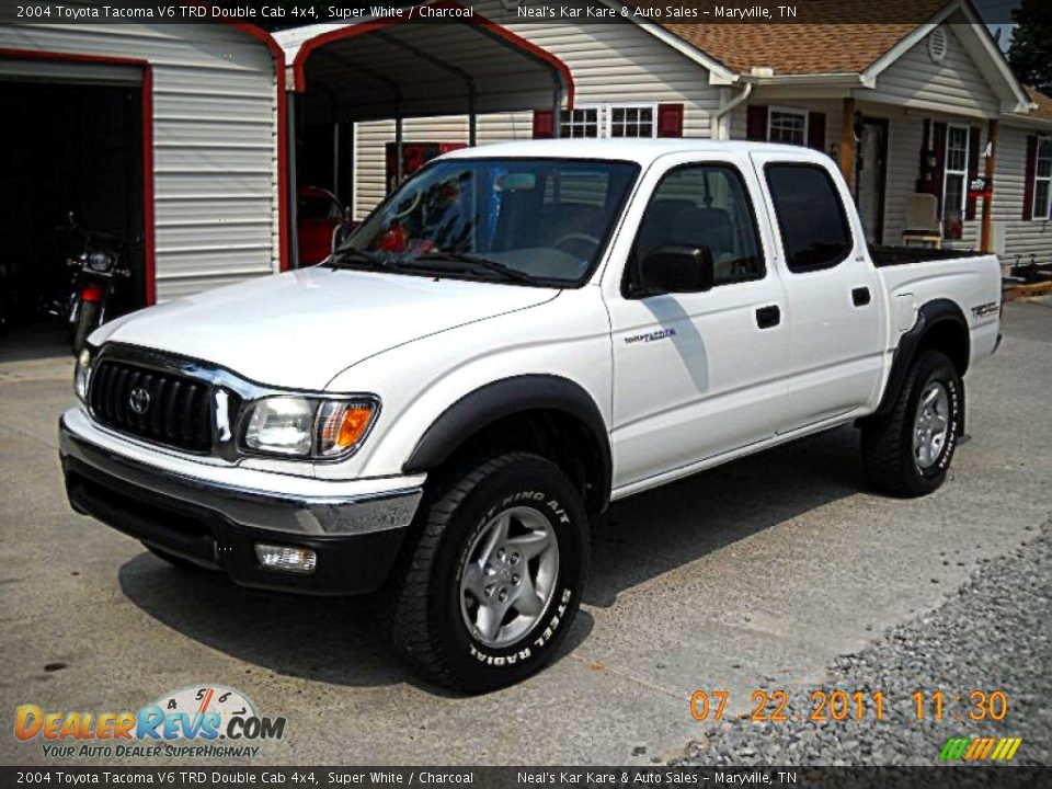 2004 toyota tacoma v6 trd double cab 4x4 super white. Black Bedroom Furniture Sets. Home Design Ideas