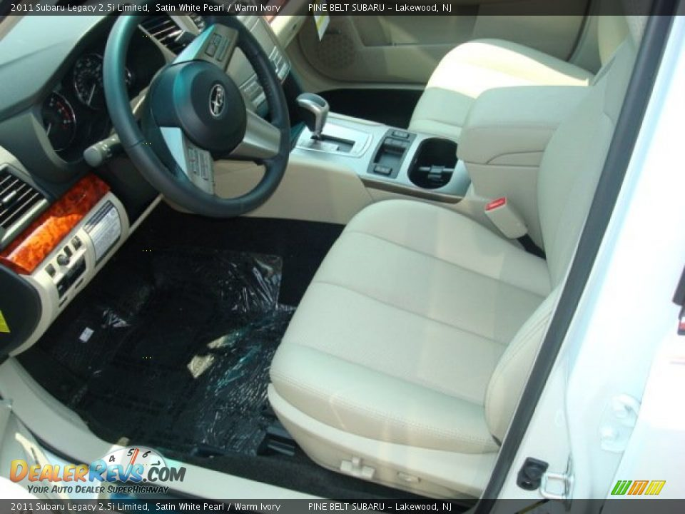 Warm Ivory Interior 2011 Subaru Legacy Limited Photo 2