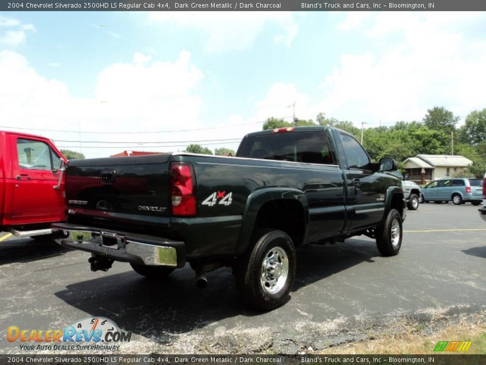 2004 chevrolet silverado 2500hd ls regular cab 4x4 dark green metallic dark charcoal photo 3. Black Bedroom Furniture Sets. Home Design Ideas