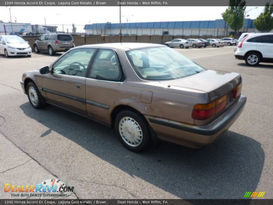 1990 Honda Accord Ex Coupe Laguna Gold Metallic Brown Photo 3
