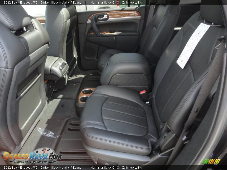 Ebony Interior 2012 Buick Enclave Awd Photo 14