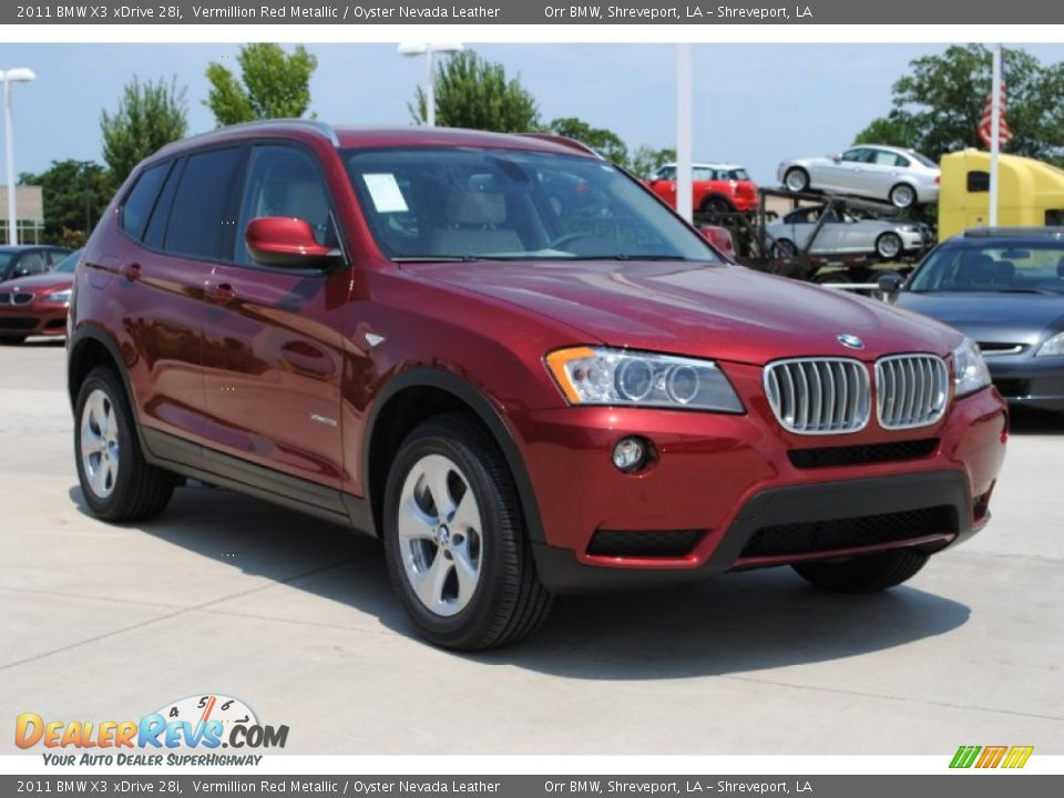 2011 Bmw X3 Xdrive 28i Vermillion Red Metallic Oyster
