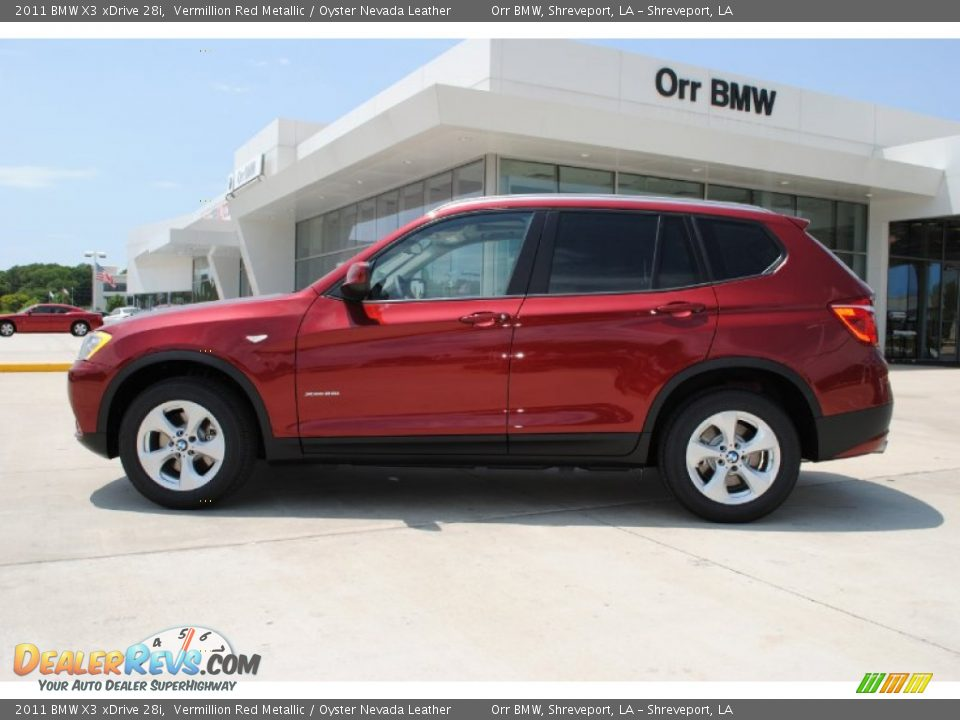 2011 Bmw X3 Xdrive 28i Vermillion Red Metallic Oyster Nevada Leather Photo 8 Dealerrevs Com