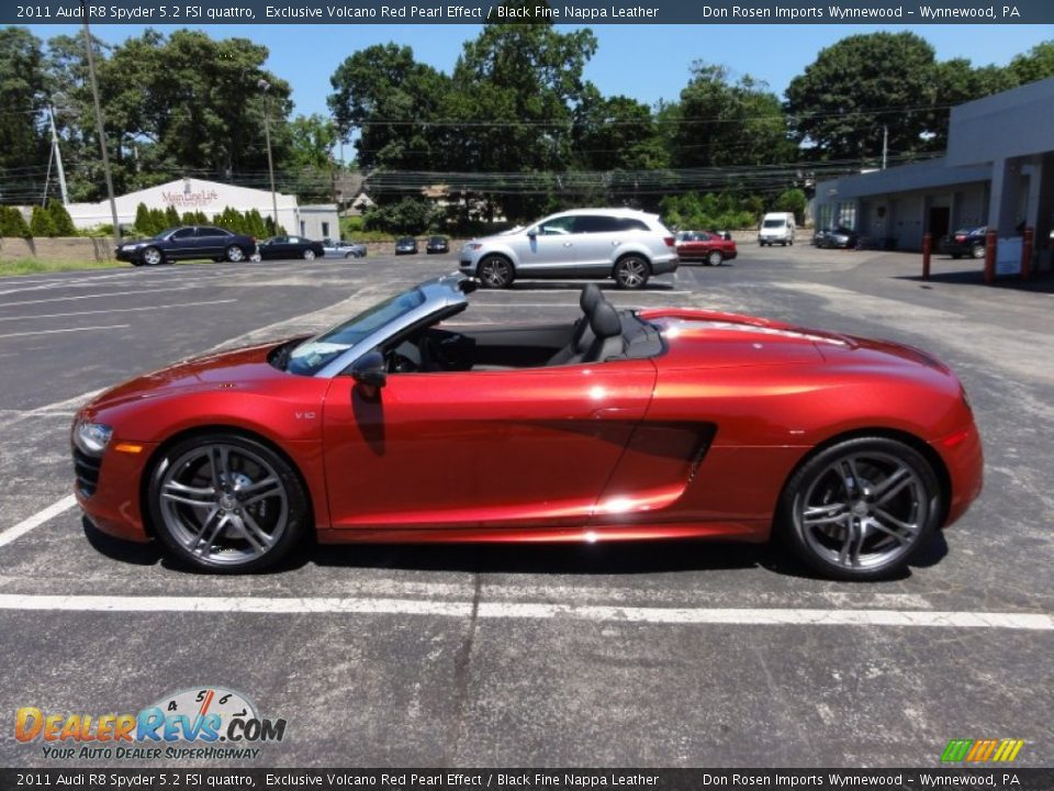 Exclusive Volcano Red Pearl Effect 2011 Audi R8 Spyder 5 2