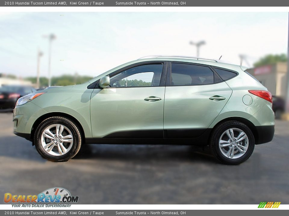 kiwi green 2010 hyundai tucson limited awd photo 6 dealerrevs