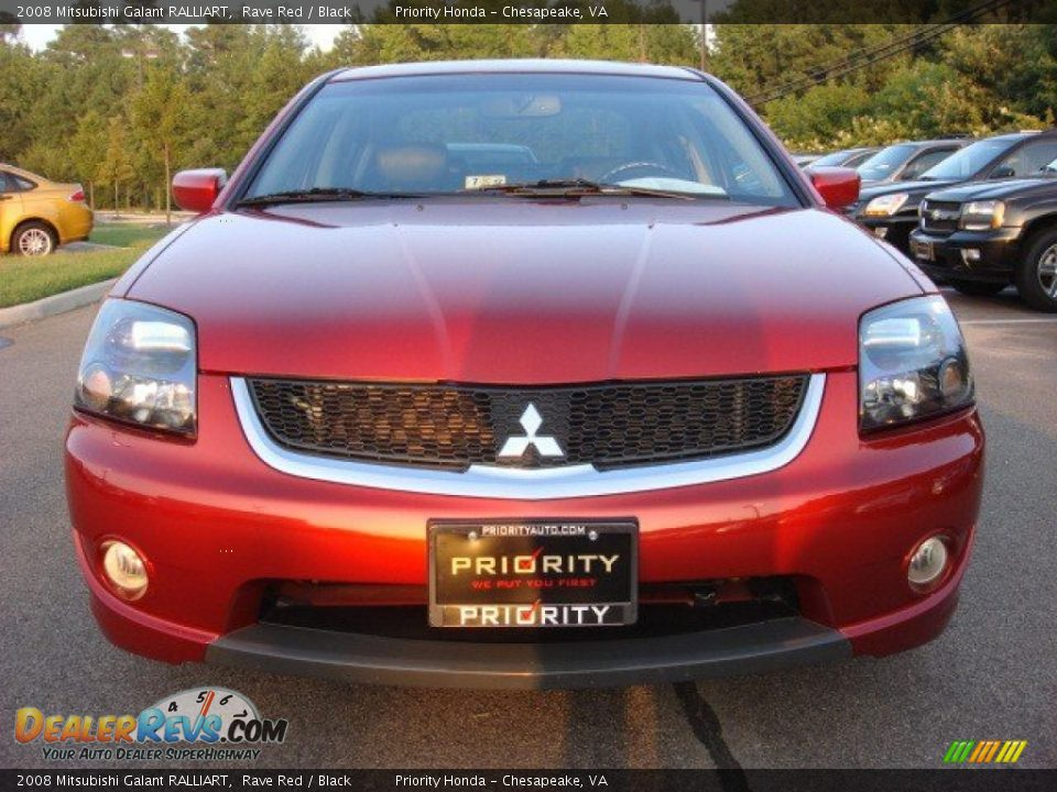 2008 Mitsubishi Galant RALLIART Rave Red / Black Photo #7 | DealerRevs.com