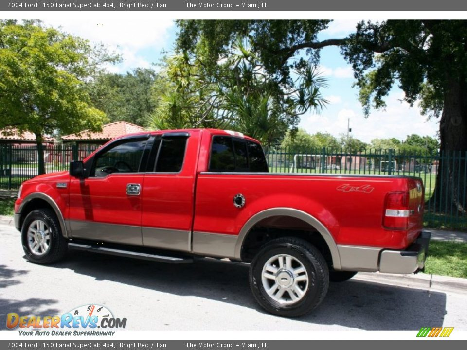 2004 ford f150 lariat supercab 4x4 bright red tan photo 4. Black Bedroom Furniture Sets. Home Design Ideas
