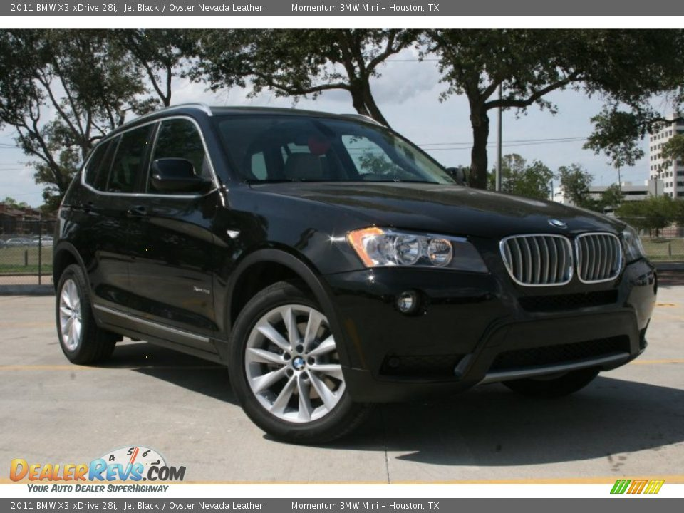 2011 bmw x3 xdrive 28i jet black oyster nevada leather photo 1. Black Bedroom Furniture Sets. Home Design Ideas