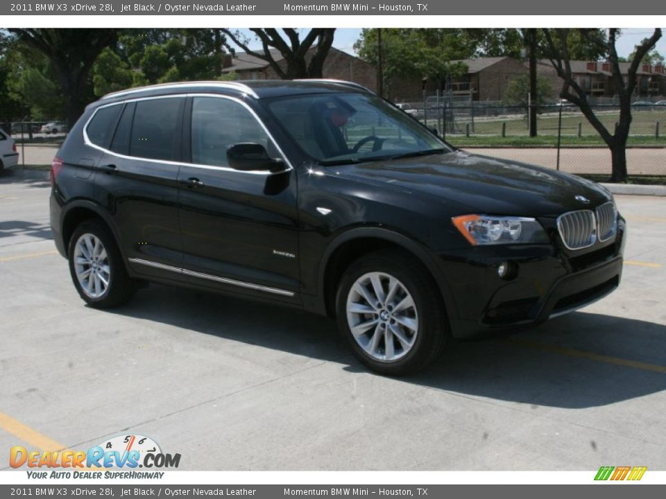 2011 Bmw X3 Xdrive 28i Jet Black Oyster Nevada Leather