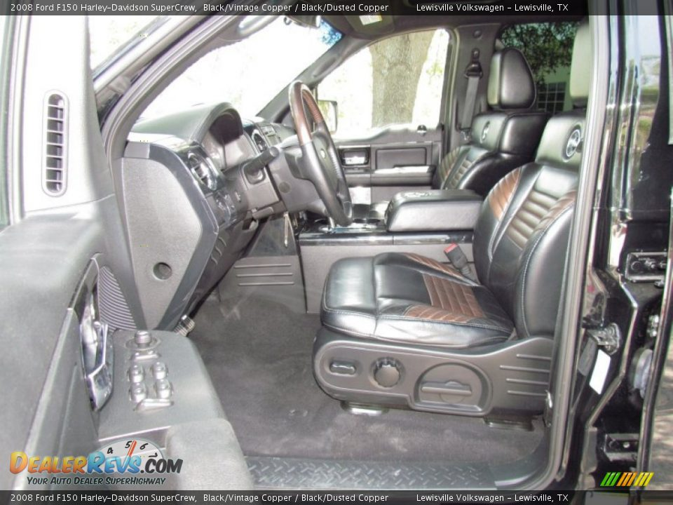 Black Dusted Copper Interior 2008 Ford F150 Harley