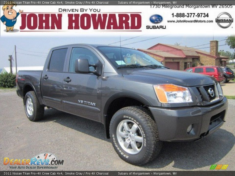 2011 nissan titan pro 4x crew cab 4x4 smoke gray pro 4x charcoal photo 1. Black Bedroom Furniture Sets. Home Design Ideas