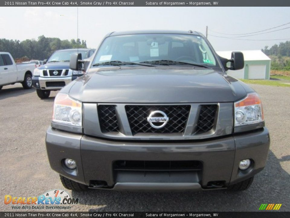 2011 nissan titan pro 4x crew cab 4x4 smoke gray pro 4x charcoal photo 2. Black Bedroom Furniture Sets. Home Design Ideas