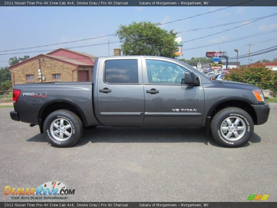 smoke gray 2011 nissan titan pro 4x crew cab 4x4 photo 13. Black Bedroom Furniture Sets. Home Design Ideas