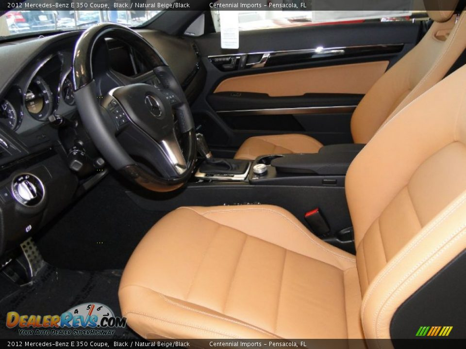natural beige black interior 2012 mercedes benz e 350 coupe photo 8. Black Bedroom Furniture Sets. Home Design Ideas