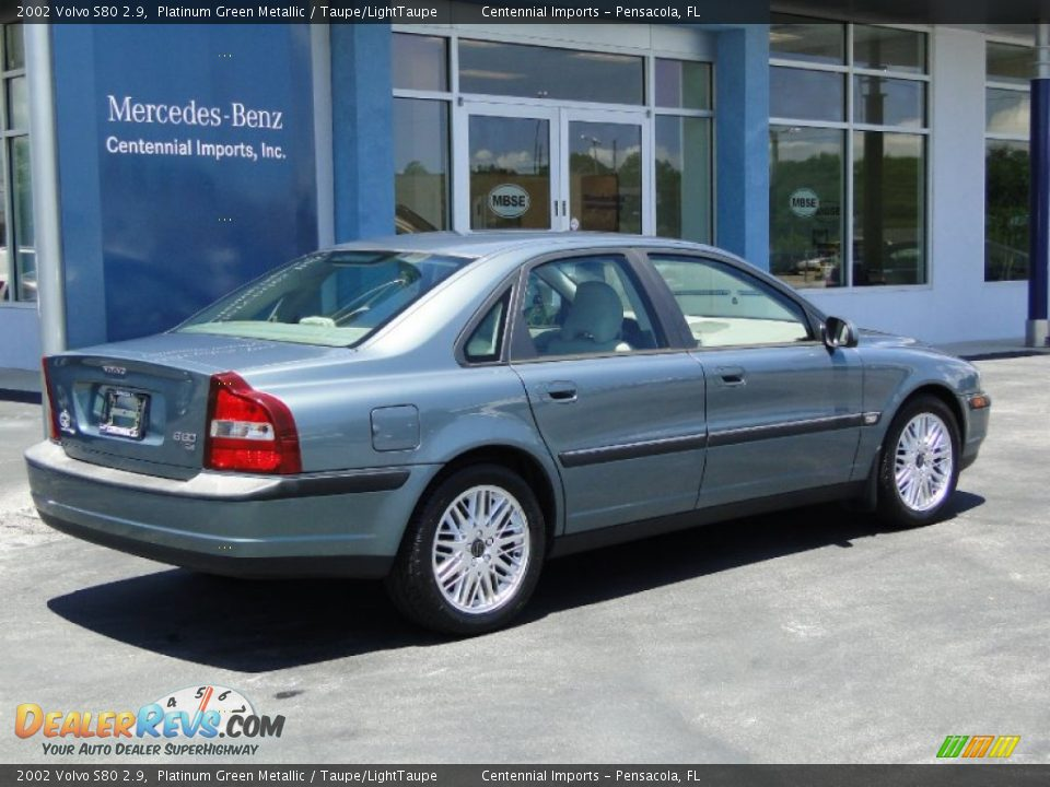2002 volvo s80 2 9 platinum green metallic taupe. Black Bedroom Furniture Sets. Home Design Ideas