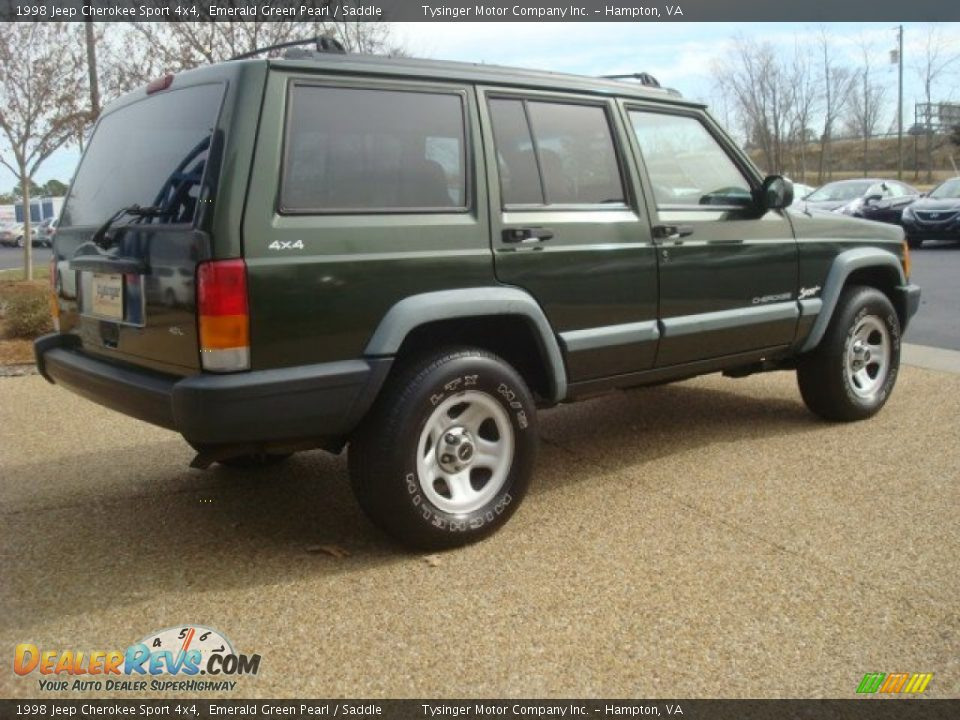 1998 jeep cherokee sport 4x4 emerald green pearl saddle photo 5. Cars Review. Best American Auto & Cars Review