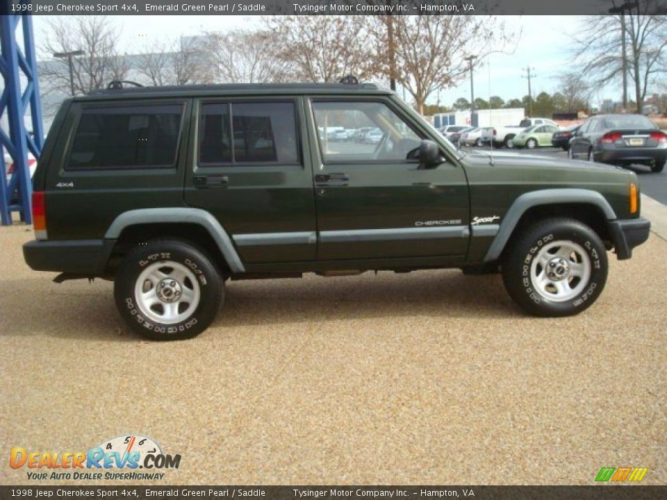 emerald green pearl 1998 jeep cherokee sport 4x4 photo 6 dealerrevs. Cars Review. Best American Auto & Cars Review